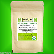 200g Organic MATCHA Green Tea Powder, Premium, BRC Food Safety Certified