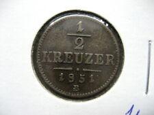 .Coin Austria 1851 B 1/2 kreuzer