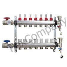 7 - Loop/Port Stainless Steel PEX Manifold Radiant Heating