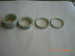 """Token carbon fiber cylindrical spacer kit- 1 1/8 """" (28 mm)-White"""