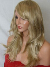 Womens Blonde Fashion medium real natural full wavy curly Ladies Wig K20