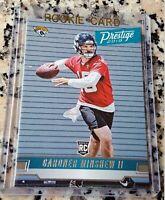 GARDNER MINSHEW II 2019 Prestige Rookie Card RC Logo Jacksonville Jaguars $ HOT