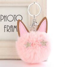 8CM Cute Dancing Angel Keychain Pendant Women Key Ring Holder Pompoms Key Chains