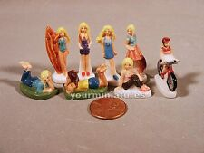 Barbie Doll Mattel Figures 1 inch Porcelain Miniatures French Feves Dollhouse