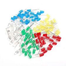 5mm 100Pcs DIY LED Light White Yellow Red Green Blue Assorted Kit LEDs Set