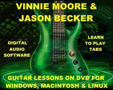 Vinnie Moore Guitar TAB Lesson CD 123 TABS 32 Backing Tracks +BONUS Jason Becker