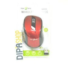 Mouse Ottico TeKone WM003 Wireless Senza fili 1600dpi Rosso Pc Notebook hsb