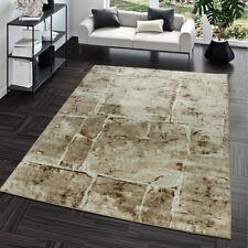 Teppich Steinboden Marmor Optik Design Modern Wohnzimmerteppich Braun Top Preis