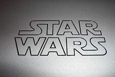 """STAR WARS Outline Logo Decal Sticker BLACK, RED, WHITE, YELLOW 1.5"""" 2"""" 3"""" 3.5"""""""