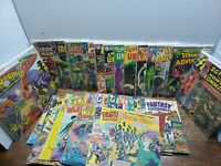 42 Vintage Old Silver Age Comic Books. 12 cent Books - Flash, Green, Iron Man