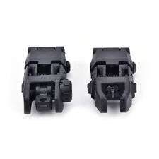 2Pcs/lot tactical folding front & rear set flip up backup sights black color. LS