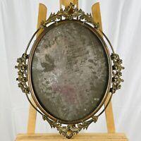Antique Victorian Vines Brass Portrait Picture Frame