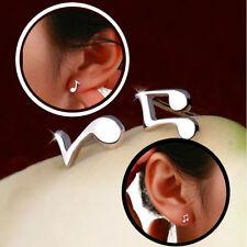 orecchini donna bambina note musicali argento in da bimba a forma piccoli di