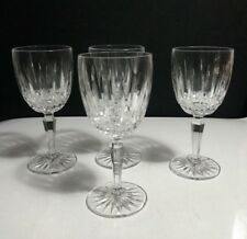 "Set of 4 MIKASA Crystal Germany OLD DUBLIN 7"" Water Wine Goblets Glasses"
