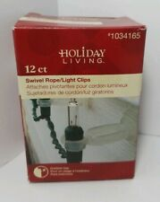 Swivel Rope Christmas Light Clip 12 cut Holiday Living clear 1034165
