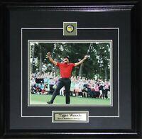 Tiger Woods PGA Golf 2019 Masters Collector Memorabilia 8x10 frame (Action)