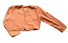 Women's Vintage 80's Coral Pink Pleat Detailed Top Retro 16 - 18