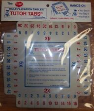 TUTOR TABS for Multiplication Tables, a learning tool