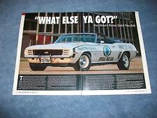 """1969 Camaro RS/SS NASCAR Pace Car Convertible Article """"What Else Ya Got?"""""""