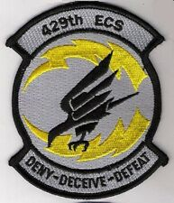 USAF 429TH ELECTRONIC COMBAT SQN Deny-Deceive-Defeat ECS EF-111 IRON-ON SSI