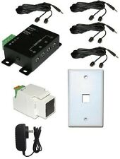 Wired IR Distribution Remote Control Extender Kit-Up to 300' Controls 8 devices