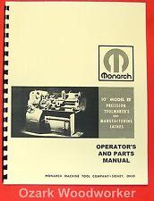 MONARCH 10EE Older Metal Lathe Operators & Parts Manual 0476
