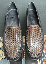 Cole Haan Country Black & Tan Woven Leather Classic Loafer Sz. 7,5AA MINT!