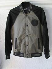 True Religion/Westbrook Varsity Jacket-Leather-Black/Green -Men's S- NWT $599