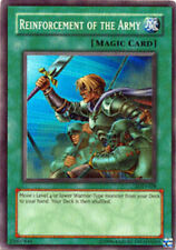 YuGiOh Reinforcement of the Army - LOD-028 - Super Rare - 1st Edition Moderately