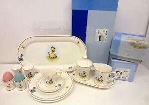 "Goebel Hummel Porcelain ""The Botanist"" Dishes - Prototype Samples - Very Rare"