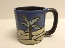 "Mexico Art Pottery Mara Mex Palm Tree Coffee Cup Mug, 4"" T x 5 1/2"" Widest"