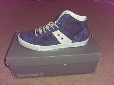 Mens Timberland EK Glastenbury Mid hi top Navy Suede trainers boots size 7.5