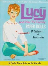 Vintage Uncut 1963 Lucy & Her Tv Family Paper Dolls~#1 Reproduction~Great Set!