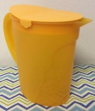 Tupperware Impressions Pitcher One Gallon Yellow / Orange New