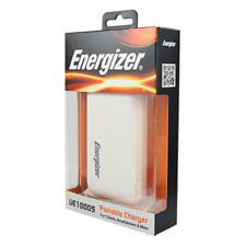 Energizer PowerBank Portable Charger for Smartphones Tablets 10000mAh  White