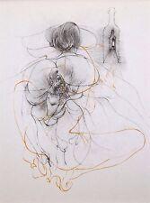 """HANS BELLMER mounted print, 1968, surrealist erotic Traité de Morale, 12 x 10"""" 2"""