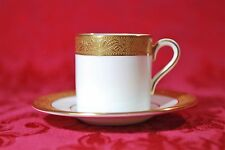 Gorgeous! Wedgwood ASCOT Demitasse Cup & Saucer Set England Fine Bone China Rare