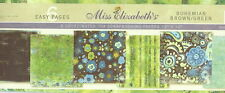 Miss Elizabeth's 12 x 12 Scrapbooking 6 Page Paper Set - BOHEMIAN BROWN & GREEN