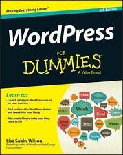 WordPress for Dummies® by Lisa Sabin-Wilson (2014, Paperback)
