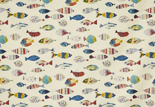 BLACKOUT MTM ROMAN BLIND PRESTIGIOUS GONE FISHING TROPICAL FISH BLUE GREEN