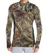 Under Armour 1259129 278 MossyOak Camo ColdGear Armour Scent Shirt Mens S