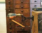 Vtg Antique Industrial Brass Cast Iron Faries Era Desk Sconce Lamp Light Hubbell