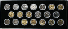 1999-2002 Gold Plated and Silver Plated State Quarters 25c Twenty Coin Set