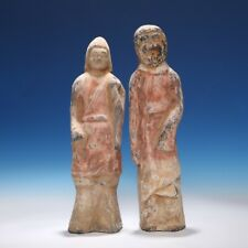 Chinese Northern Wei Dynasty Pottery Figurines 北魏陶俑一对
