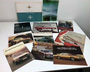 LOT 11 Vtg 1940s-70s Car Dealer Sales Brochures LINCOLN/PLYMOUTH/CHRYSLER/DODGE+