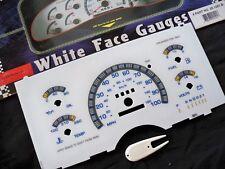 1993 1994 1995 GMC Safari Chevy Astro Van White Face Glow Through Gauges Blue