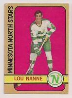 1972-73 OPC #10 LOU NANNE MINNESOTA NORTH STARS  O-PEE-CHEE