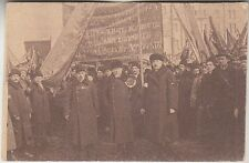 Russia, Russland, Moscow, Commissar Kishkin with laborers, PPC 1917
