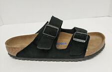 Birkenstock Arizona Slide Sandals, Black Suede, Men's 12 (EU 45)