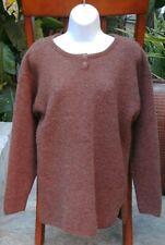 Abercrombie & Fitch Women's Dark Brown Lambswool Blend Button Up Sweater Medium